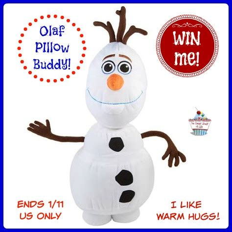 Frozen Giveaways - win a frozen olaf pillow buddy us only ends 1 11 us only