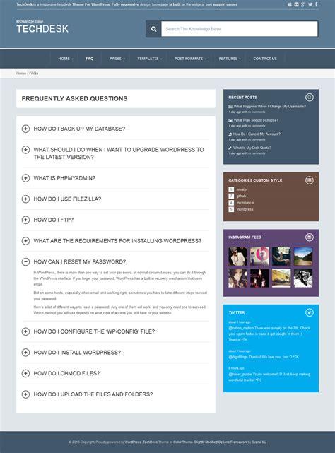 themeforest faq techdesk responsive knowledge base faq theme by zerge