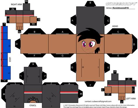 paper craft template kevin jr papercraft template by kevintoons915 on deviantart