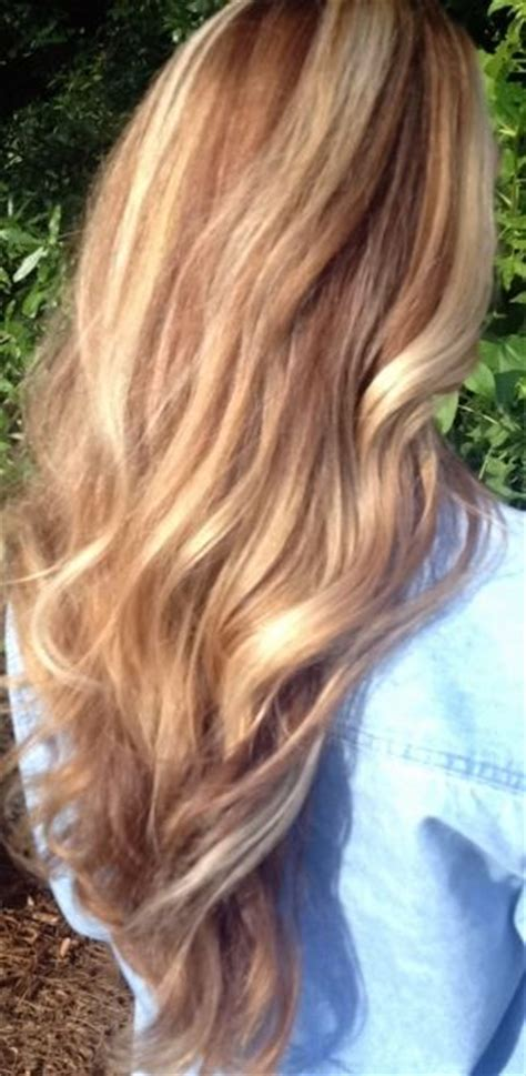 carmel and blonde highligh pictures honey golden warm brown blonde caramel