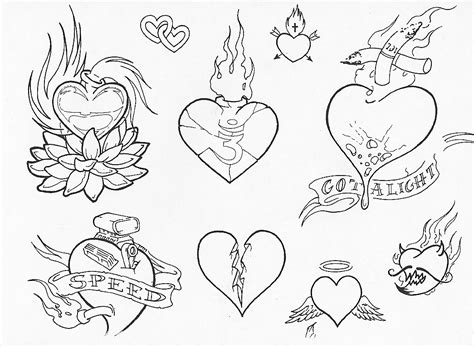 tattoo flash outlines the gallery for gt heart with banner tattoo flash