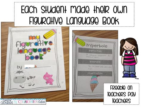 figurative language picture books collaboration cuties figurative language with book