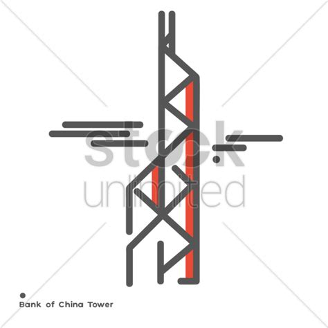 bank of china stock bank of china tower vector image 1593868 stockunlimited