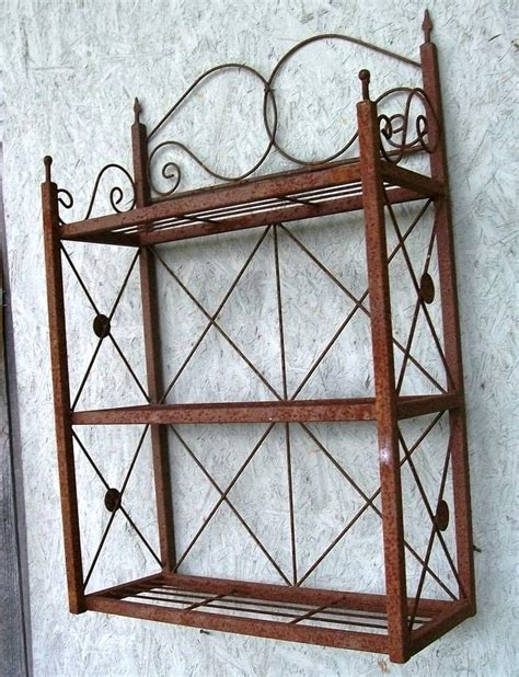 Wrought Iron Bathroom Shelves Wrought Iron 3 Tiered Wall Shelf Bathroom Pinterest Shelves Wall Shelves And Chang E 3