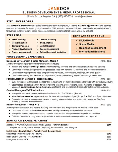 Resume Sles For Business Students Digital Marketing Resume Exle Sourceline