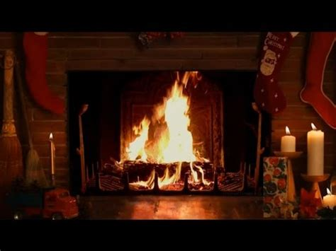 Yule Fireplace by Cozy Fireplace With Crackling Sounds Hd