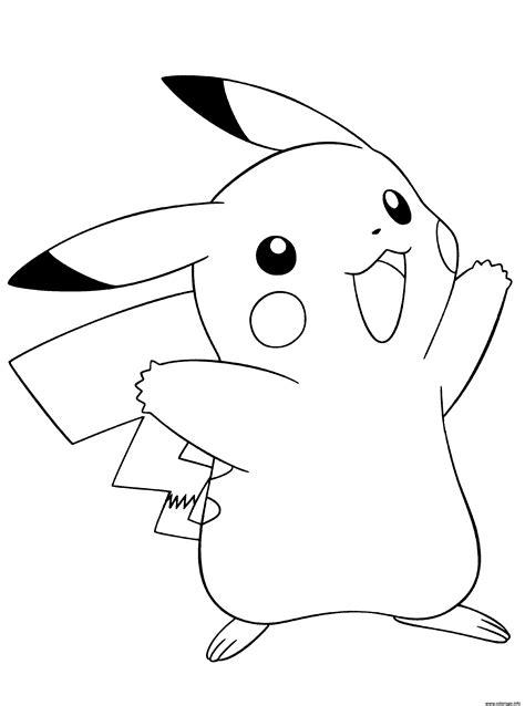 Coloriage pokemon noir et blanc pikachu - JeColorie.com