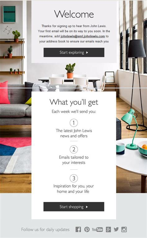 email format john lewis welcome email design inspiration 19 eye candy exles