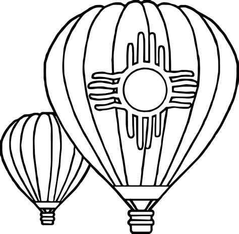 air balloon coloring page balloon color page free coloring books