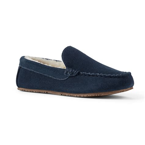 mens slipper reviews lands end s suede moc slipper review pros and cons