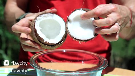 food hack how to open a coconut rumble