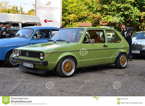 green volkswagen golf green volkswagen golf 1 editorial stock image image