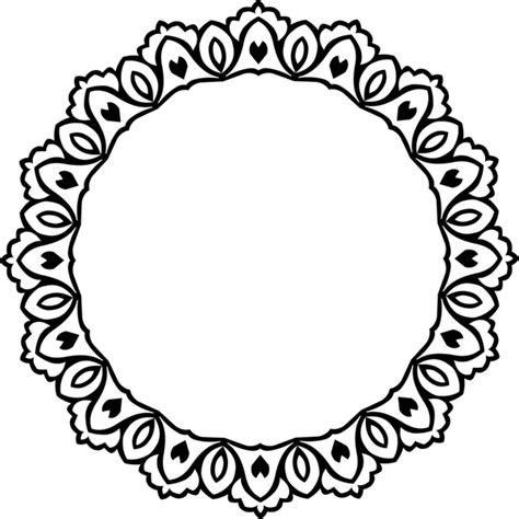 decorative drawing borders decorative circle design with vintage abstract border free