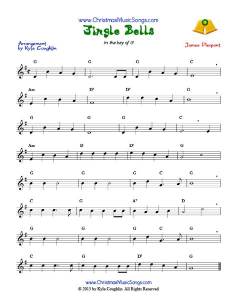 printable sheet music for jingle bells jingle bells free sheet music