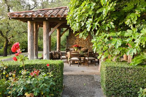 napa valley garden and vineyard traditional home