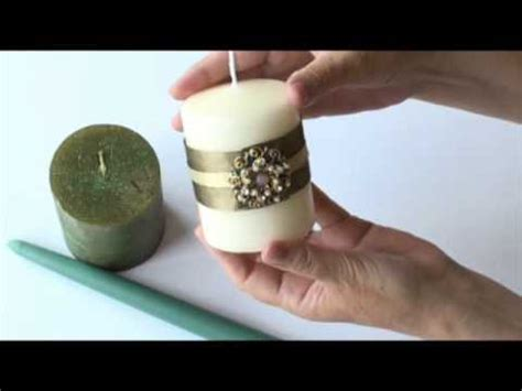 how to decorate candles at home how to decorate candles youtube