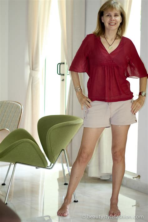 over 50 shorts outfit wearing shorts in and around the house stella mccarney