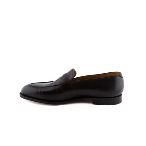 lobb loafers loafer lobb fencote in black calf with mask