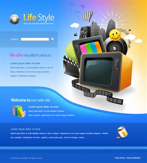 Television Web Template 6048 Entertainment Media Website Templates Dreamtemplate Television Website Template