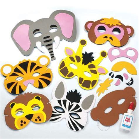kits de caretas de animales de la selva de espuma baker ross