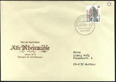 Brief Nach Schweiz Philaseiten De Sondertarife Im Grenzbereich Deutschland 214 Sterreich Schweiz