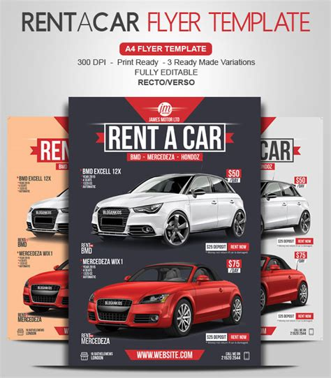 rent a car flyer give value to your car rental business