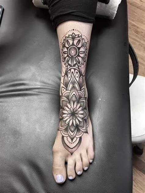 tattoo mandala caviglia 50 piede del tatuaggio design elegante per le donne