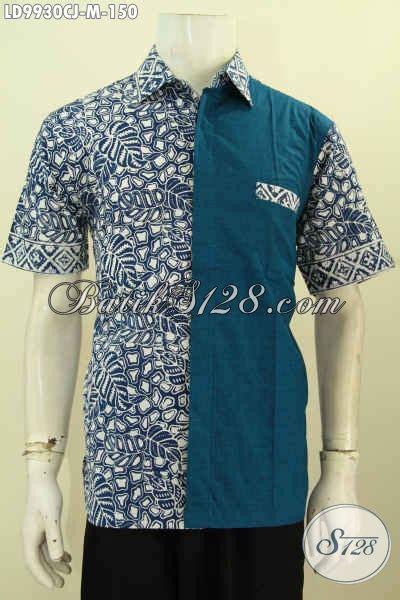 desain jaket polosan model baju batik pria kombinasi unik model baju batik