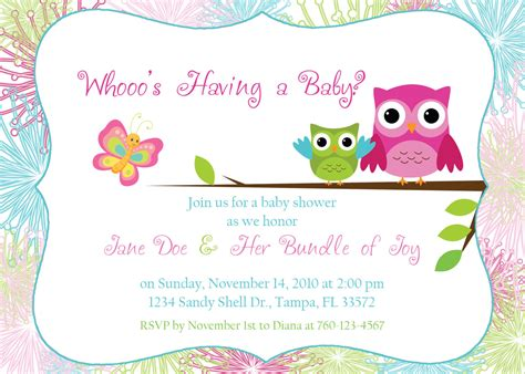owl baby shower invitations template free owl baby shower invitation digital image