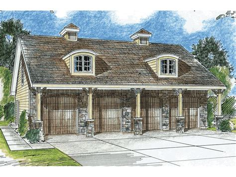 free home plans 4 car garage building plans