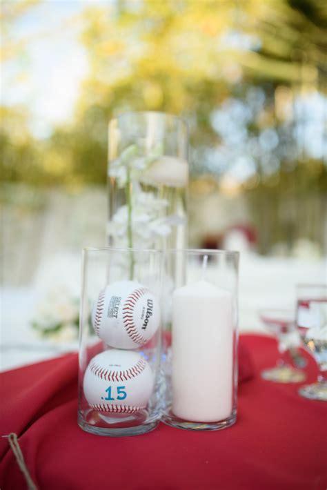 baseball wedding centerpieces featured wedding drew s baseball themed wedding