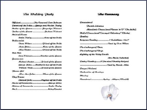 free printable church program template hydrangea church program template peerpex