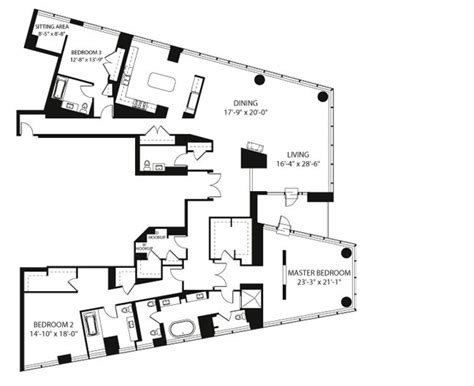 chicago floor plans penthouses in chicago floor plans penthouse residence
