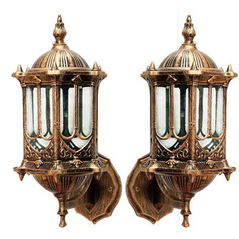 vintage outdoor lighting ebay vintage antique brass wall lantern garden lighting decor