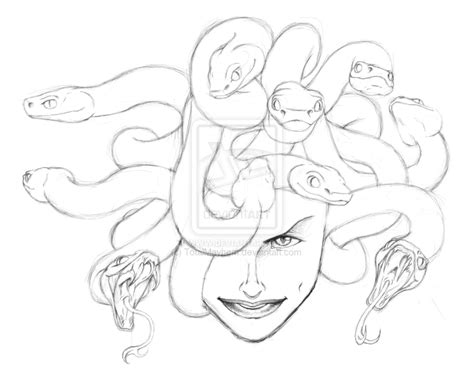 doodle medusa drawing medusa like the snakes not the