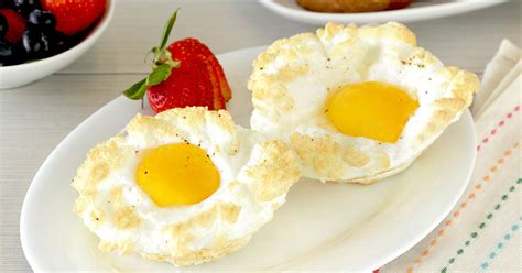 cloud eggs healthy recipe for fluffy cloud eggs hungry girl