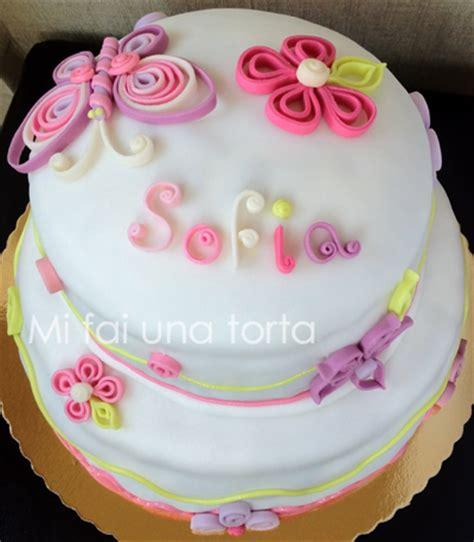 fiori con pasta di zucchero tecnica torta decorata con la tecnica quot quilling