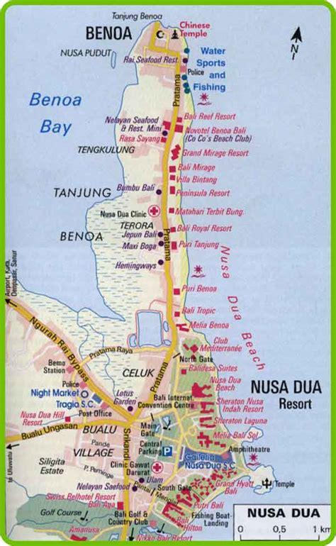 bali map nusa dua enjoy the various beautiful attractions in nusa dua bali