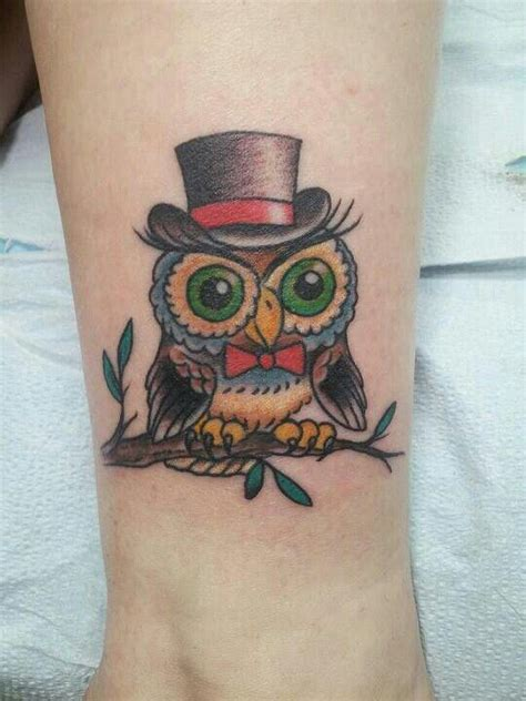 owl tattoo hat pin by deanna on top hat love pinterest owl love it