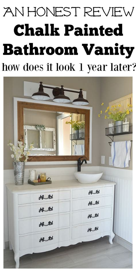 paint my bathroom cabinets honest review of my chalk painted bathroom vanities