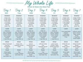 Whole30 Meal Plan Template by Monchoso Whole 30 Week One Meal Plan And Shopping