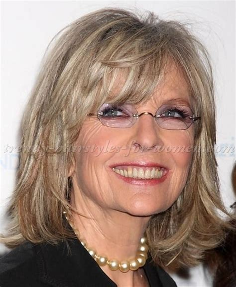 shoulder length hairstyles gray hair medium hairstyles over 50 diane keaton shoulder length