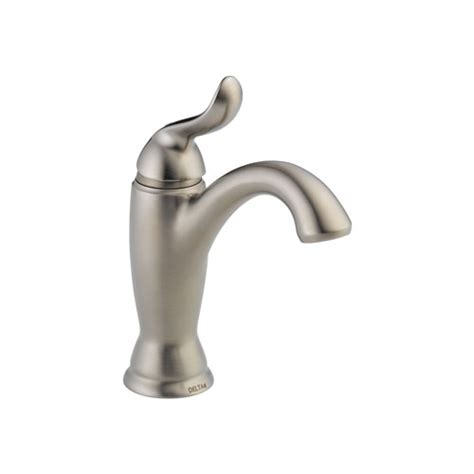 delta 594 ssmpu dst linden single handle lavatory faucet with metal pop up stainless steel