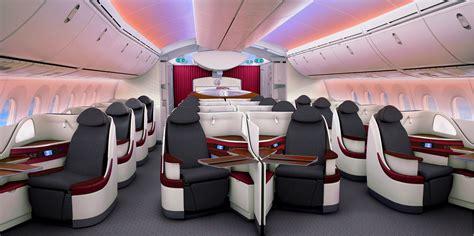 Qatar Airways Interior by Qatar Airways New Boeing 787 Participates In Farnborough