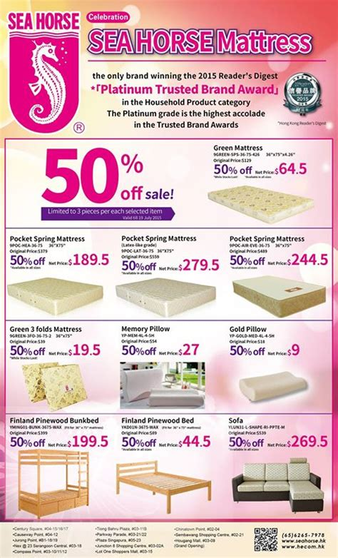 Mattress Singapore Promotion by Sea Promotion