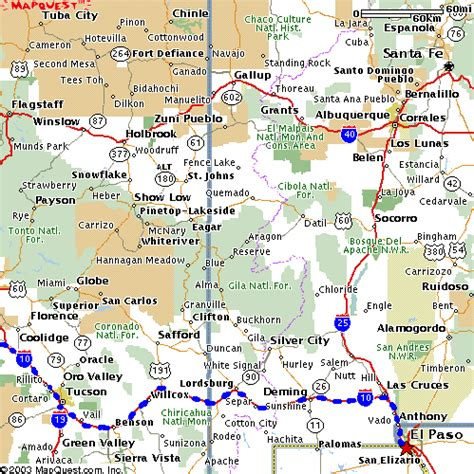 map of southern us and mexico motorcycle trip through southwest
