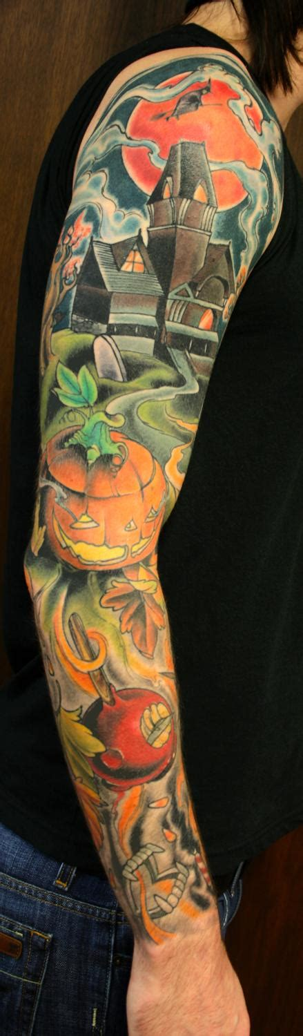 halloween sleeve tattoo designs tattoos designs ideas and meaning tattoos for you