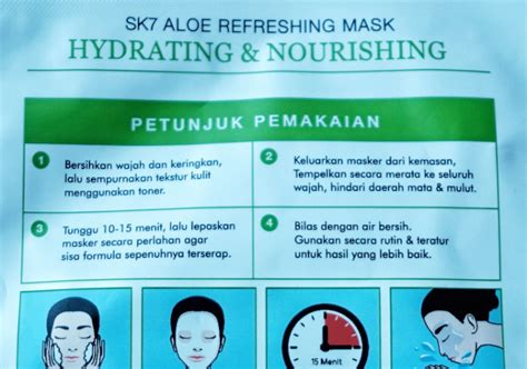 Masker Muka Aloe Vera masker wajah sk7 aloe refreshing mask hydrating