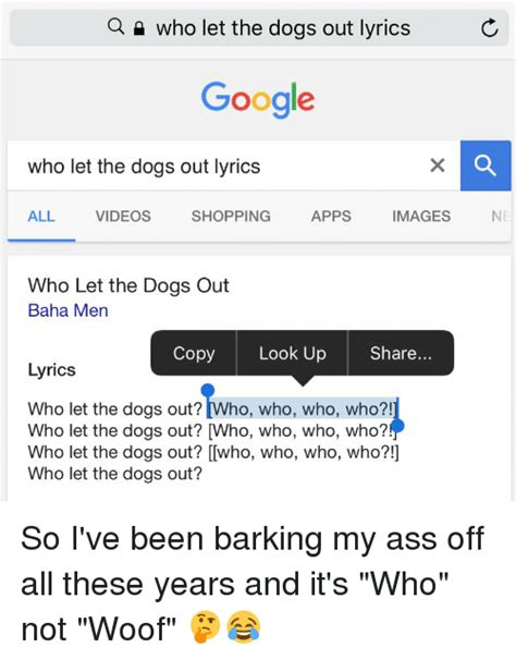 who let the dogs out lyrics 25 best memes about who let the dogs out who let the dogs out memes