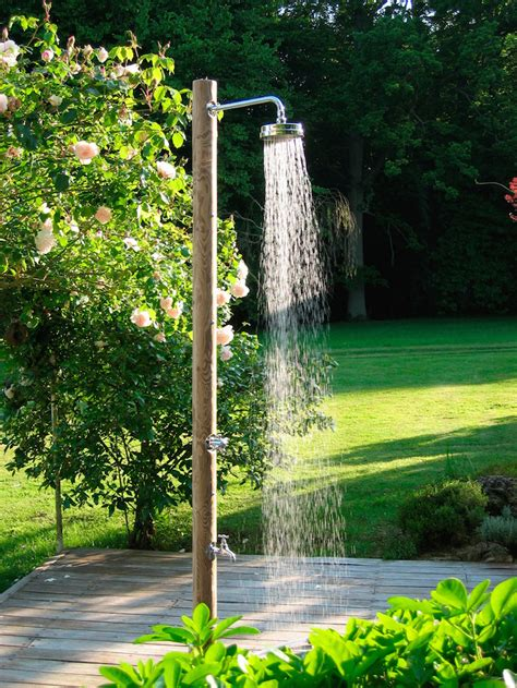 outdoor showers 10 easy pieces freestanding outdoor showers gardenista